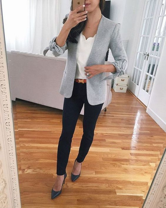Casual Blazer Outfits Female, Casual wear, Petite size