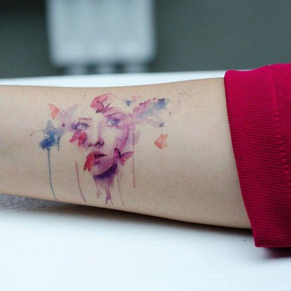 Get fabulous fashion watercolor tattoos women, Watercolor painting