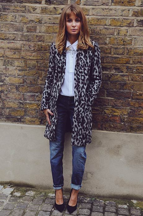 French connection leopard coat, Animal print
