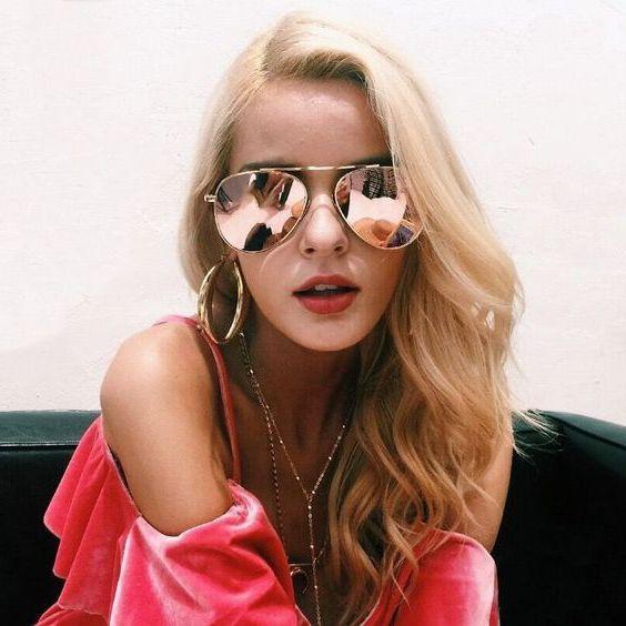 Women Sunglasses Ideas, Mirrored sunglasses, Street fashion