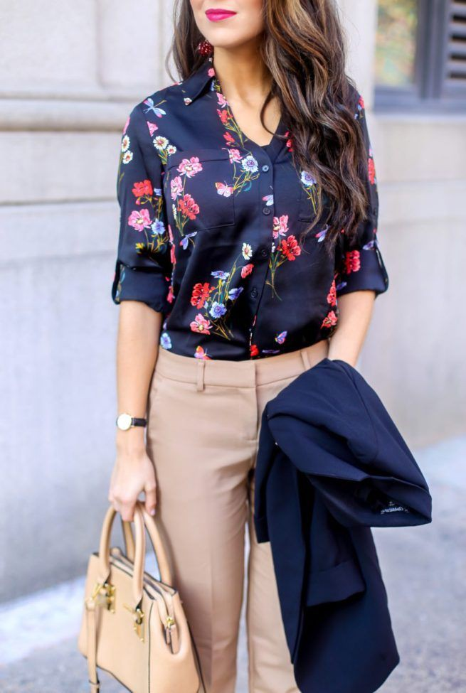 Outfit ideas for floral blouse outfit, Informal wear