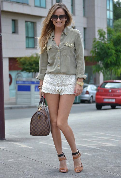 Great collection of lace short outfit, Jean Shorts