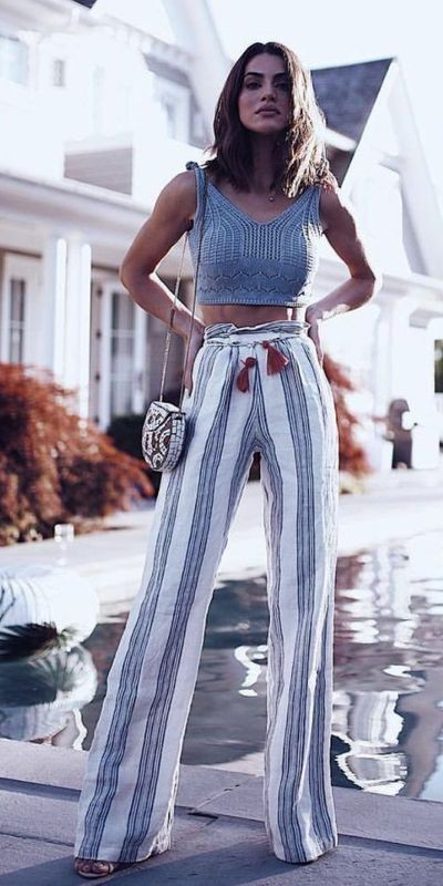 Business formal tips for palazzo pants outfit