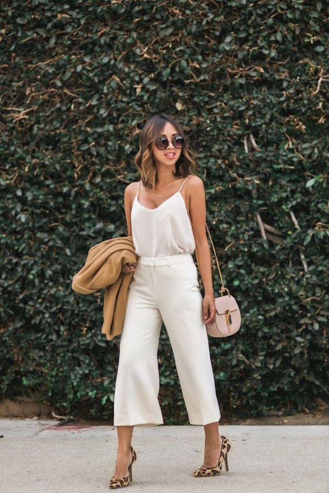Summer culottes street style, Street fashion