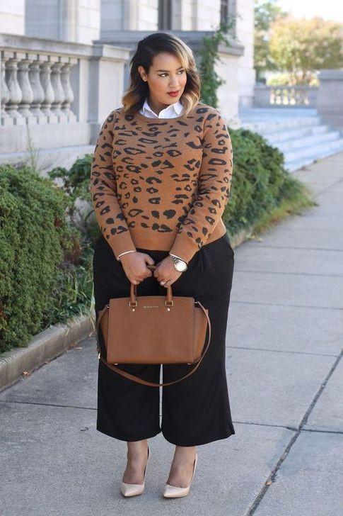 Curvy girl in culottes, Culotte Hose