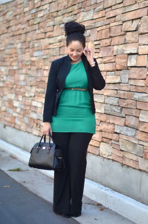 Plus size women fall business attire