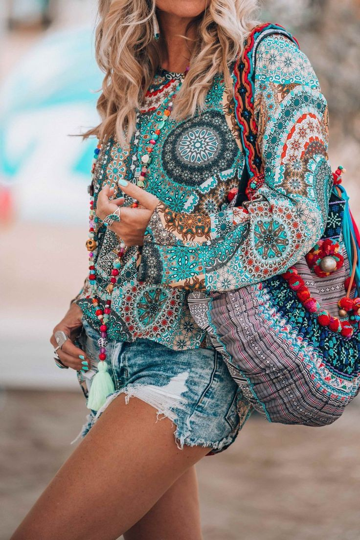 Boho chic style hippie boho outfit