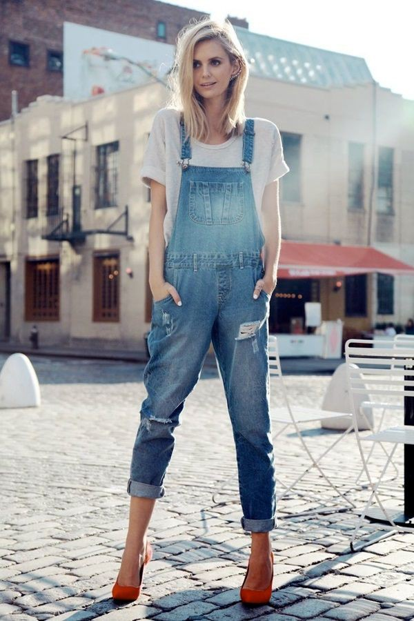 Cool collections of denim overall style, Street fashion