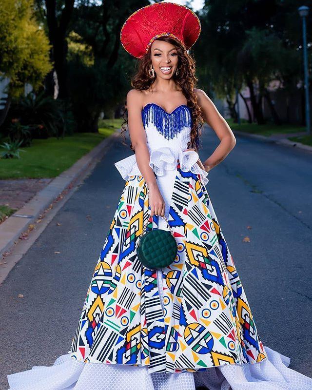 Modern ndebele print dresses, African Dress