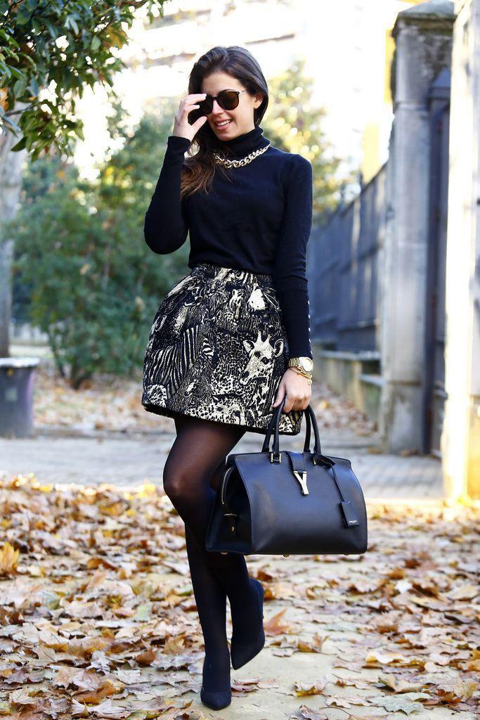 Good-looking wear a turtleneck, Little black dress