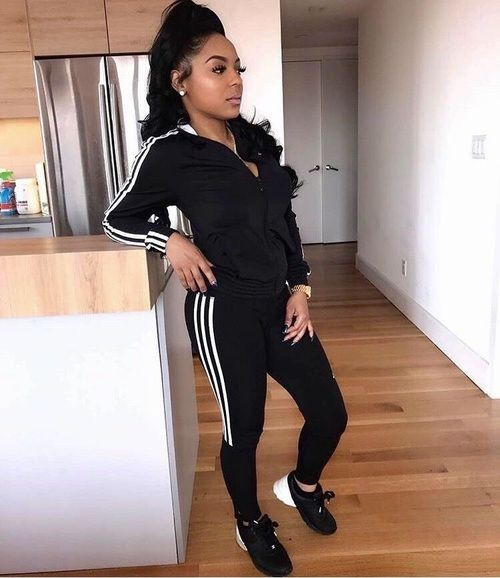 Black Adidas Outfits For Girls