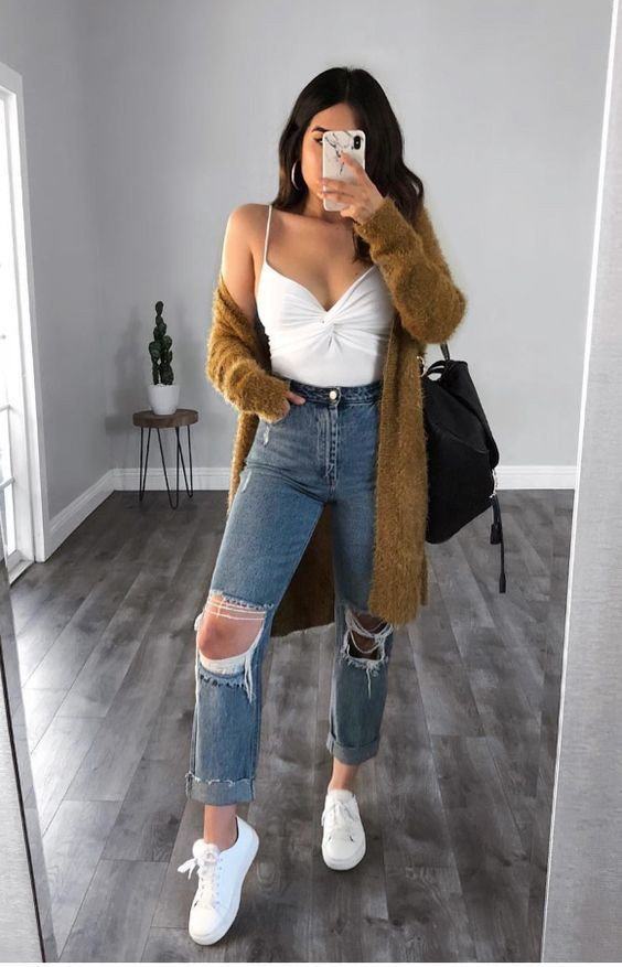Models looks instagram outfits, Mom jeans