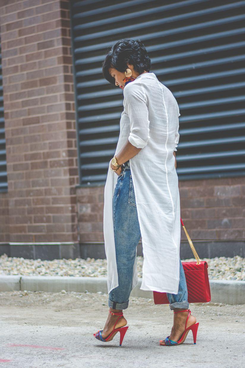 Blue Jeans Top Combination, Casual wear, Dress shirt