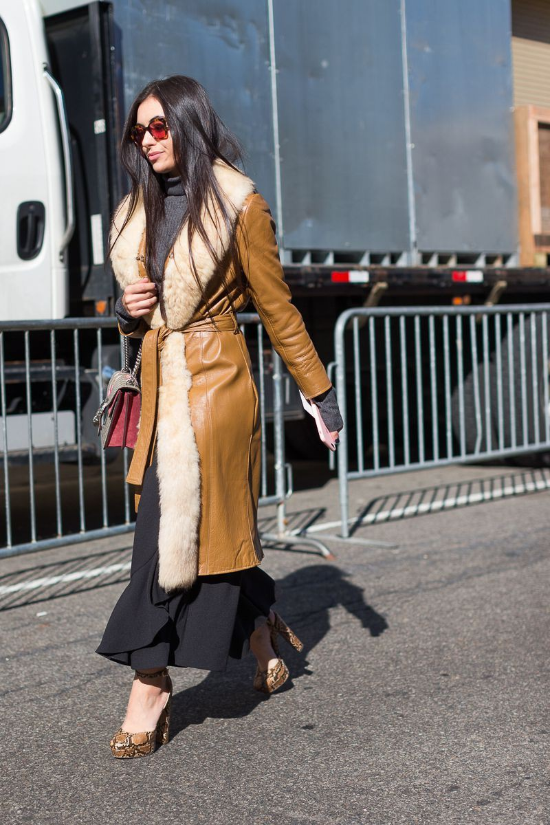 Formal Brown Coat Outfits Street fashion