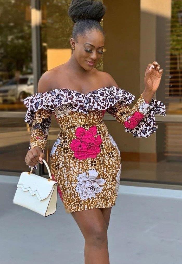 Beautiful ankara short gowns, African Dress
