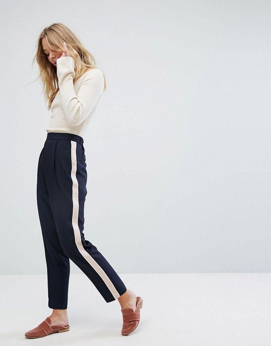Oasis side stripe trouser, Tailored Pants