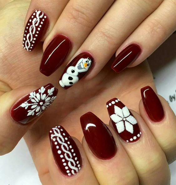 See these incredible christmas nail designs, Nail art