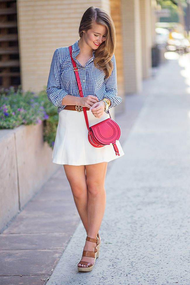 Mini skirt with wedges