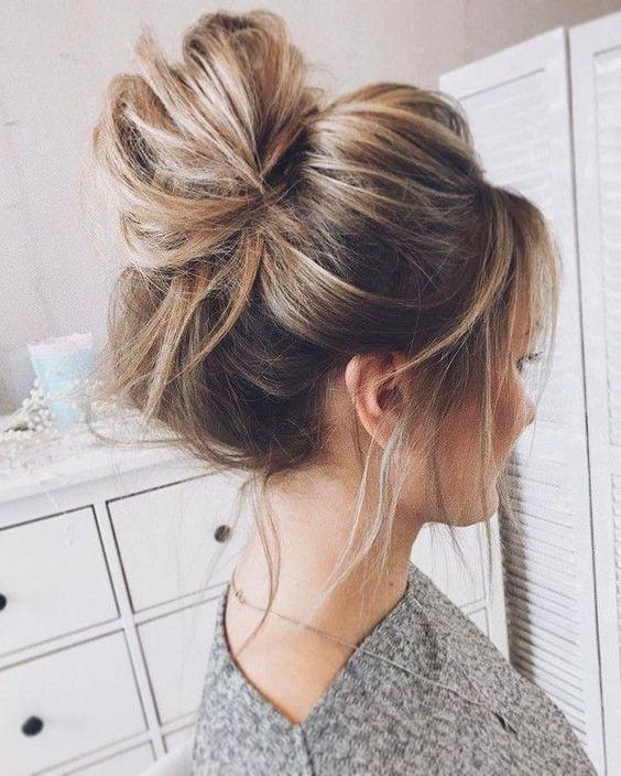 Cute messy bun hairstyles, head hair