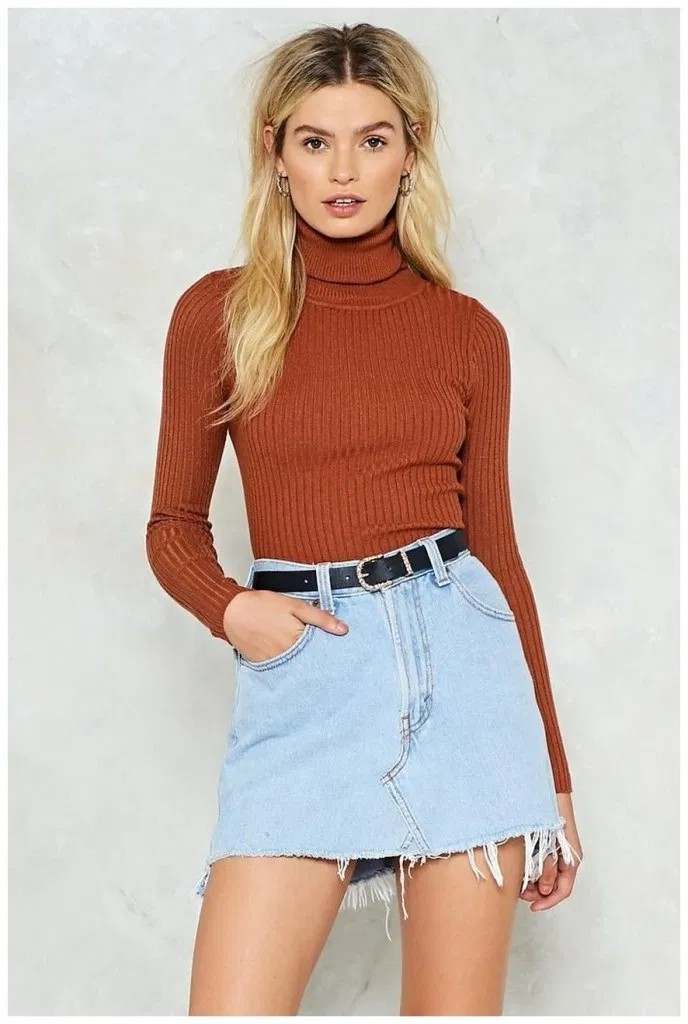 Absolutely great! You must see these fashion model, Polo neck
