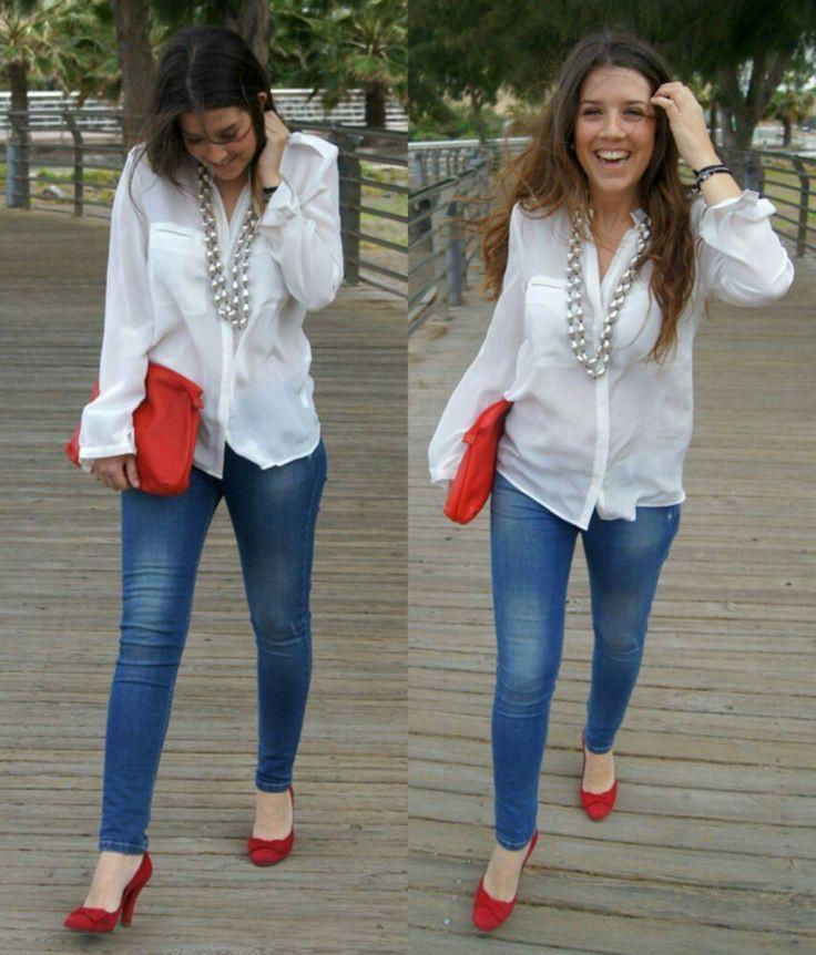 Outfits con zapatos rojos, Casual wear