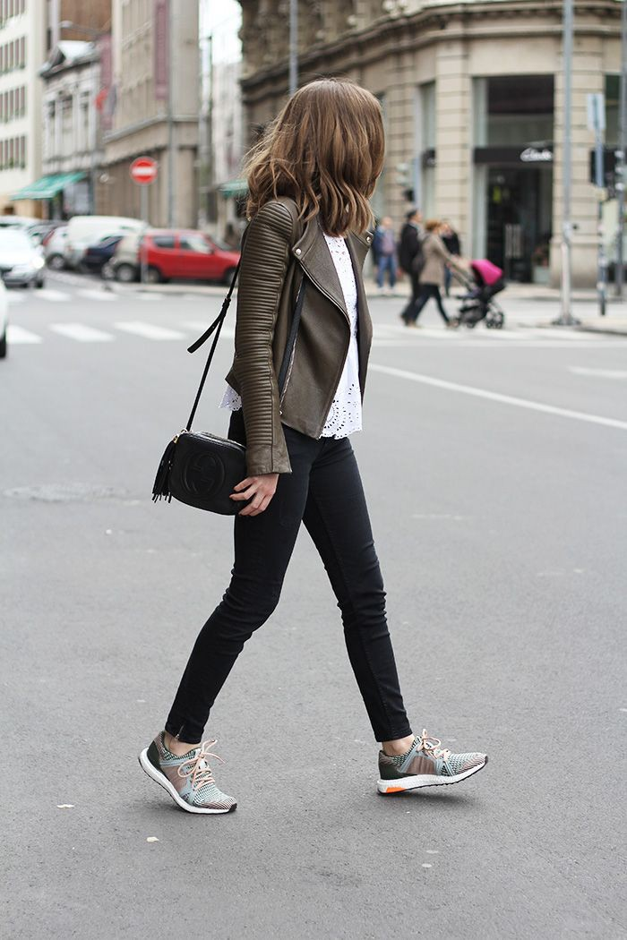 Cute bowling date outfits, Leather jacket