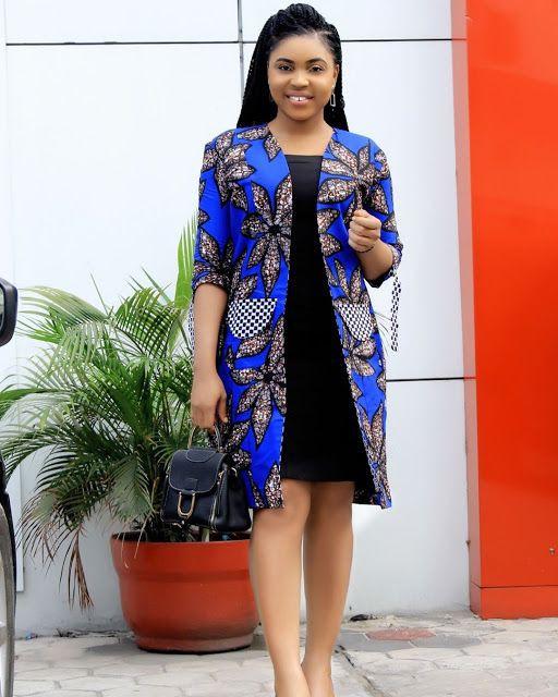 Cool designs for blue Ankara dress