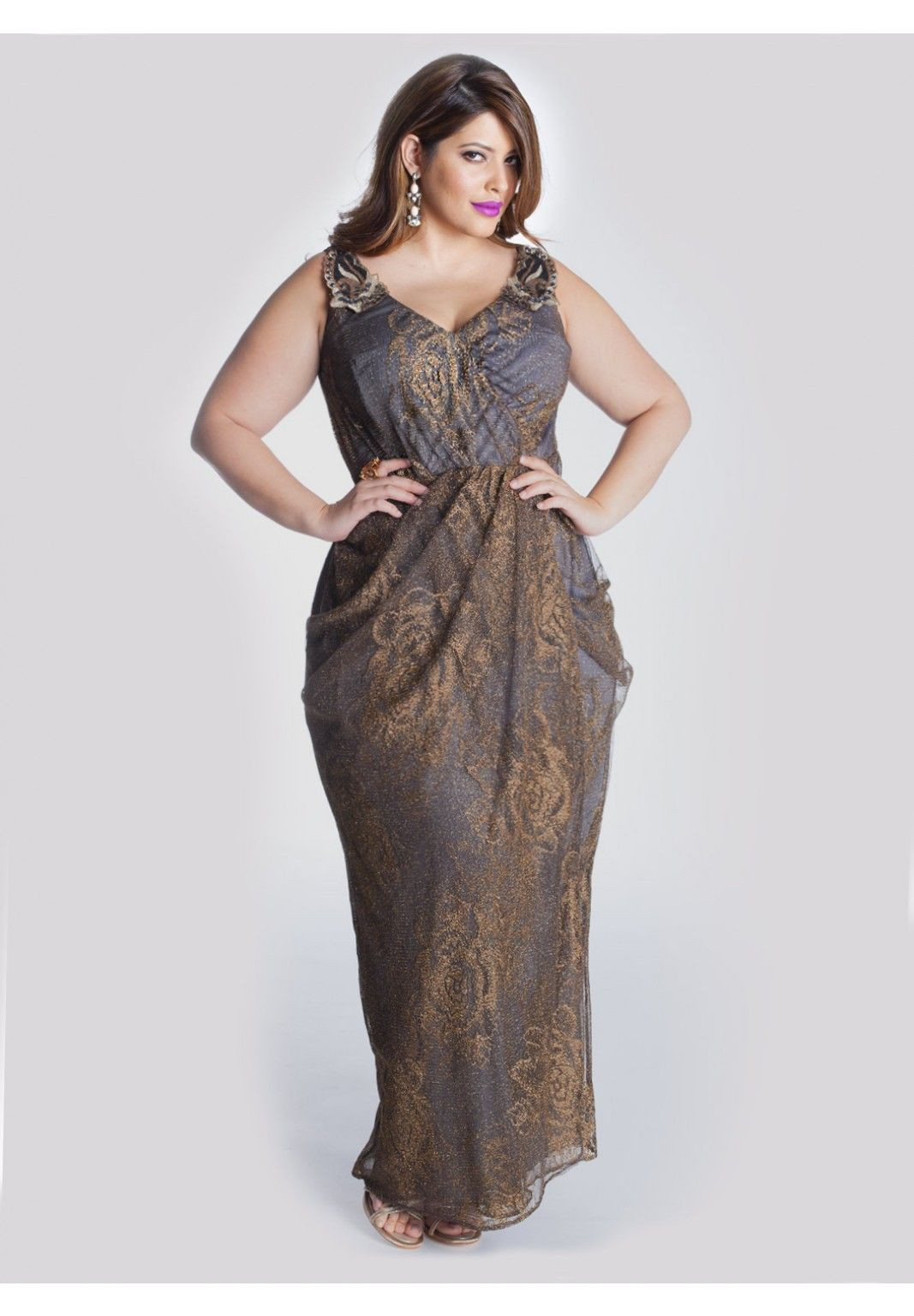 Plus size gown for godmother