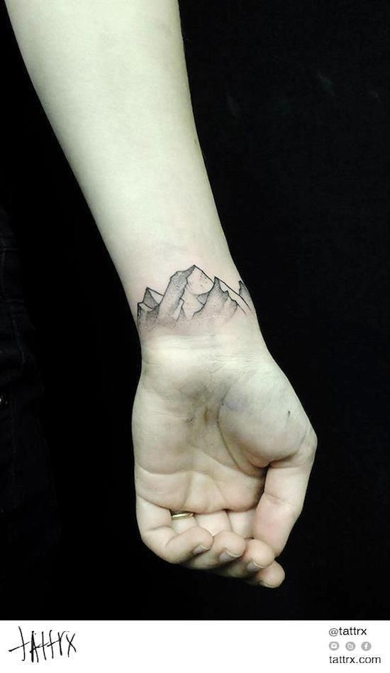 Finest tips for fading mountain tattoo, Small Mountain Tattoo