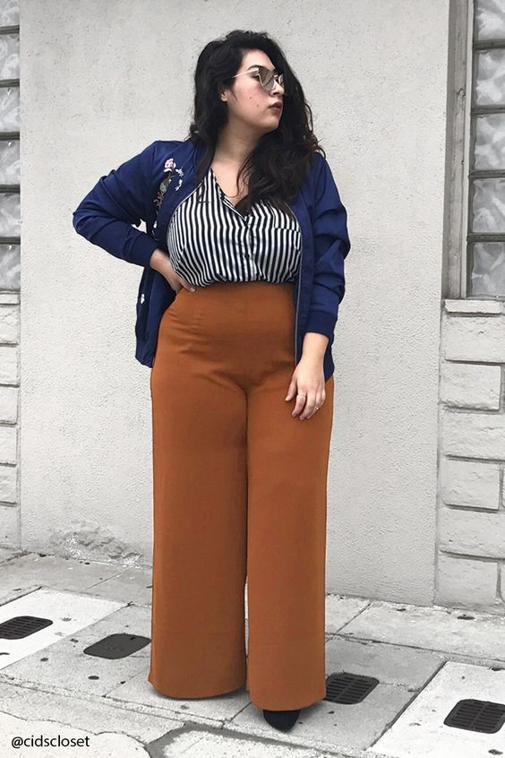Palazzo pants curvy girl, Plus-size clothing