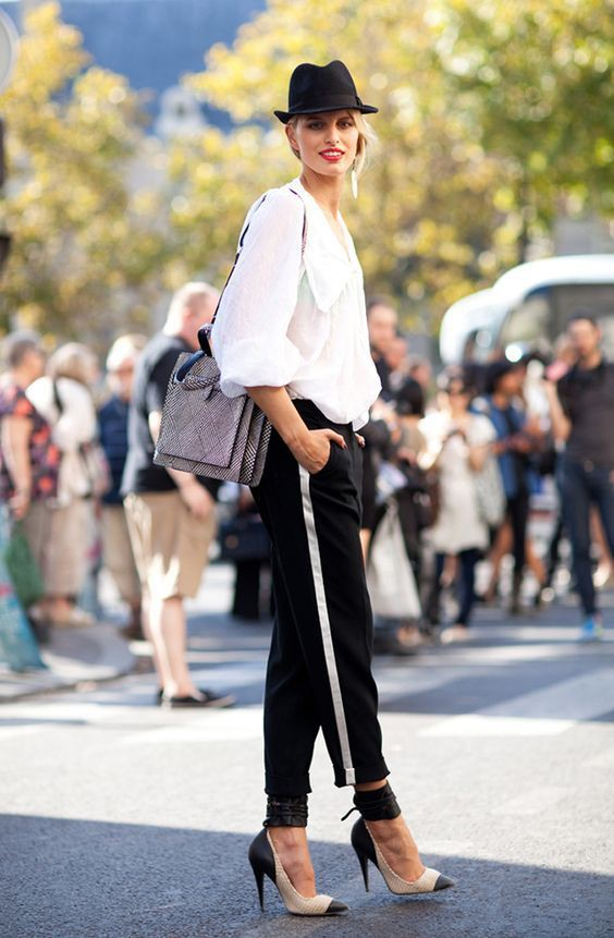 Track pants how to wear