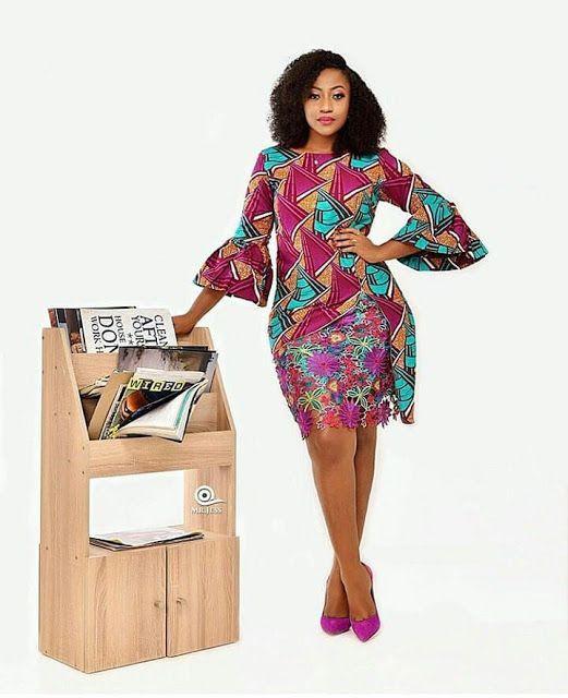 Most liked! kitenge office dress, African wax prints