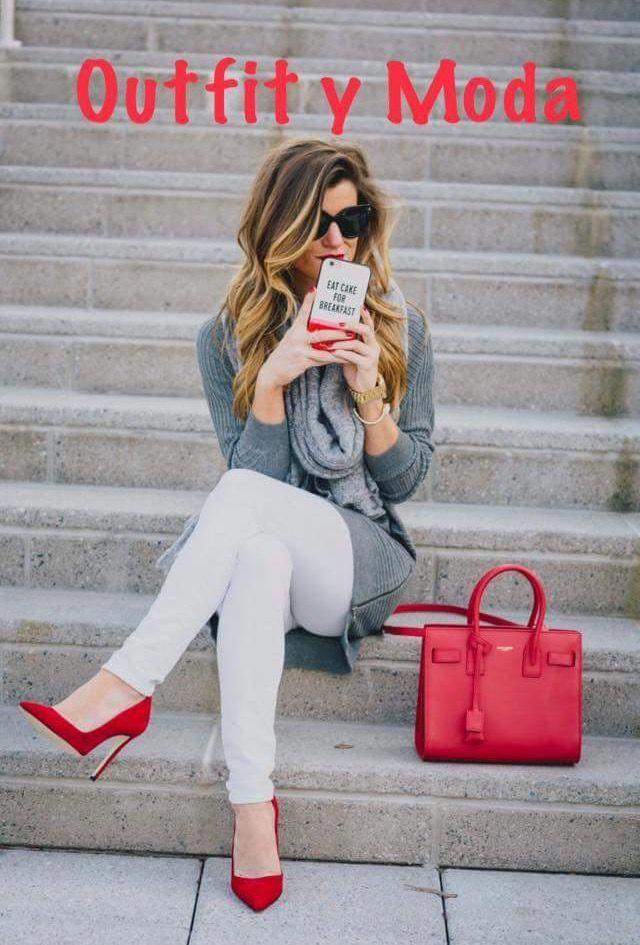 Outfits con zapatos rojos invierno