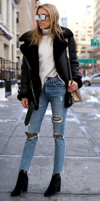 Ravishing tips for shearling jacket, Leather jacket