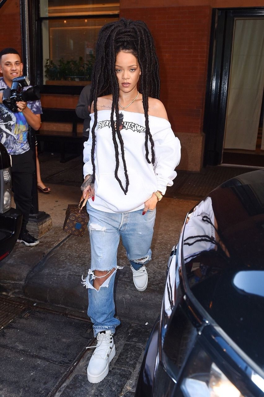 Try these rihanna dreads outfits, Brothel creeper