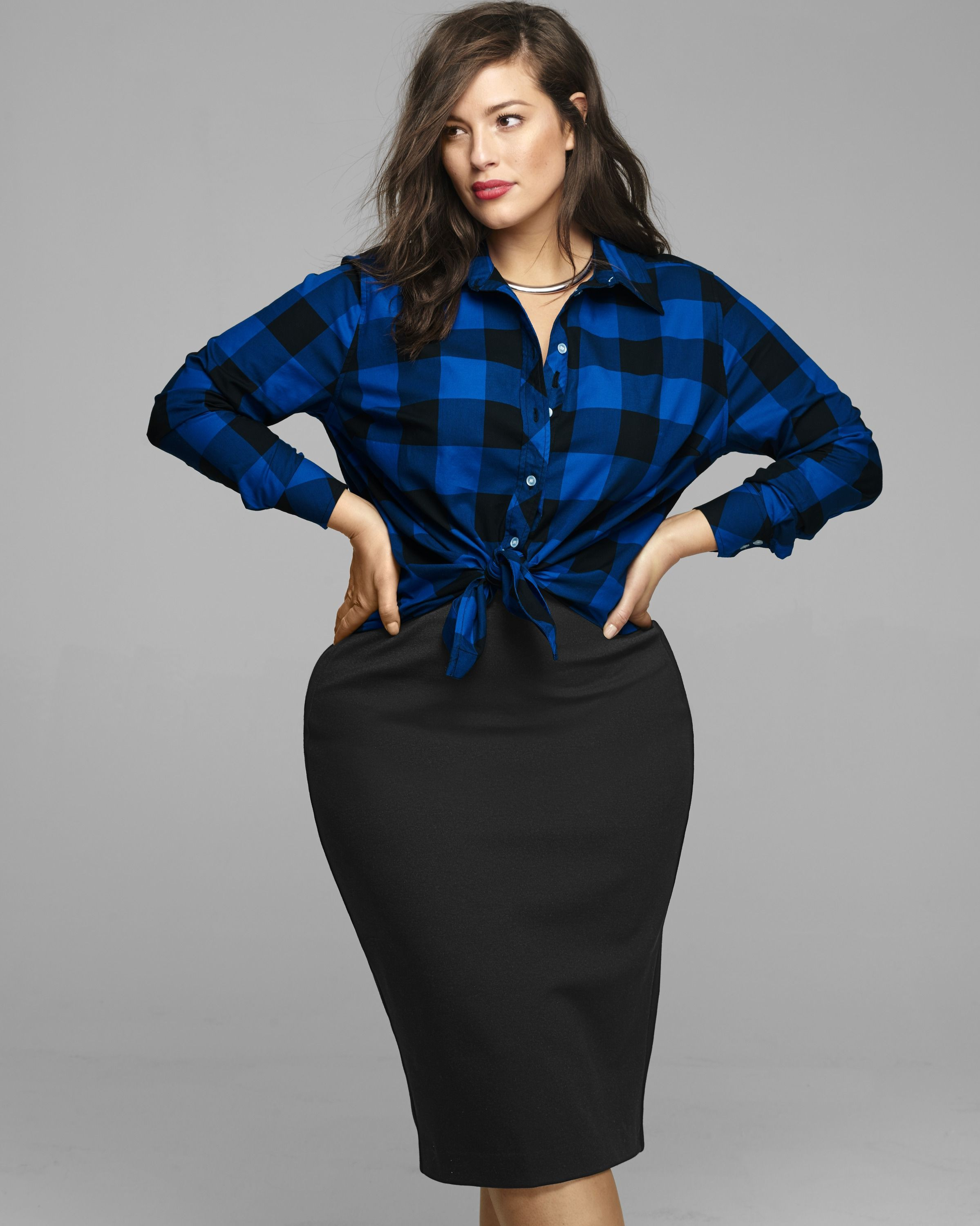 Casual Plus Size Pencil Skirt Outfits
