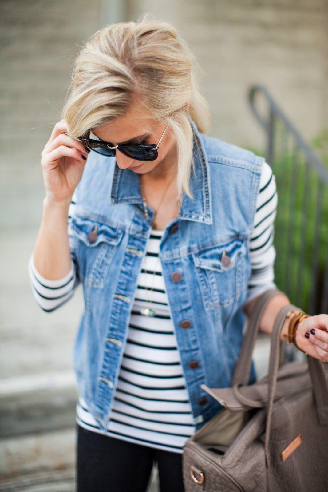 Vest jean jacket outfits, Jean jacket