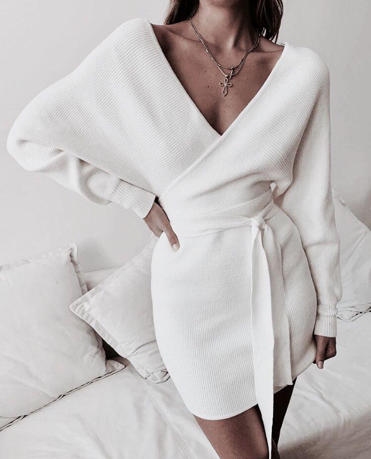 Winter fashion wrap drap winter dresses