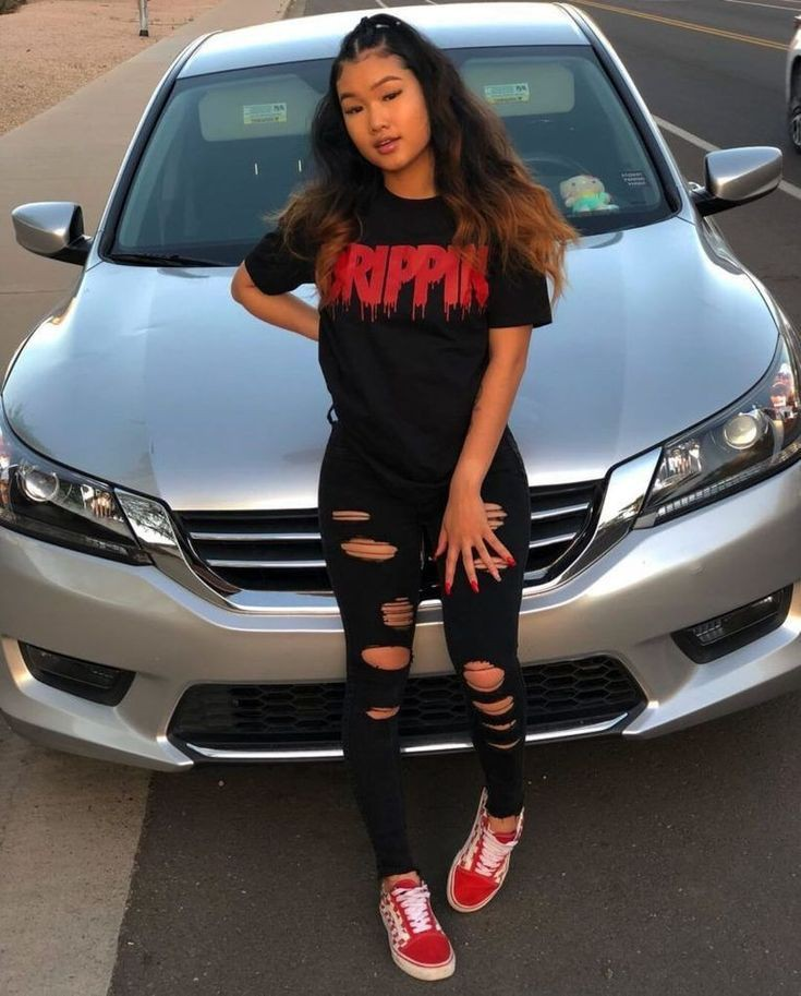 Drippin red black tee, Casual wear | Baddie Outfits With ...
