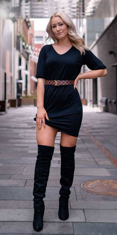 Holiday Outfit Ideas For Women, Little black dress, Christmas Day