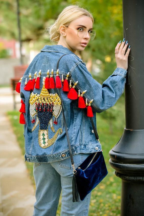 Boho Outfit Ideas, Jean jacket, Leather jacket
