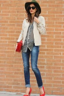 Outfits With Red Shoes, Casual wear, High-heeled shoe