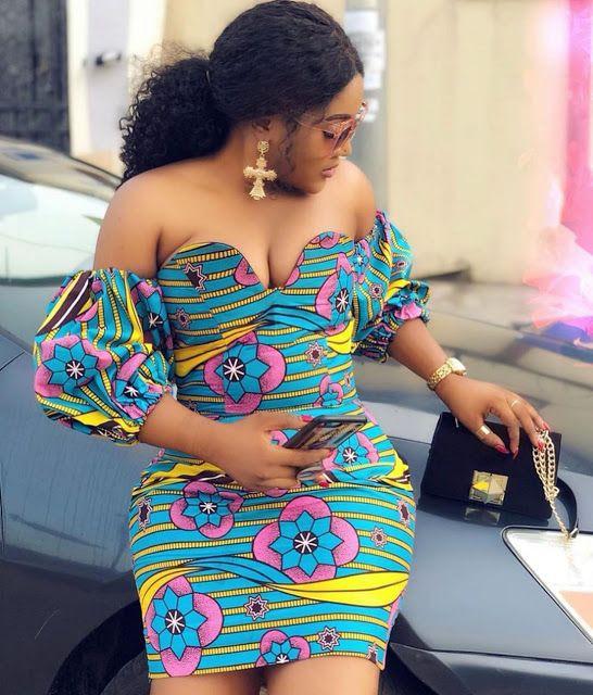 Aso ebi Ankara Gown Styles, African wax prints,