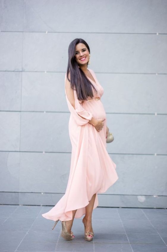 Pregnant wedding guest outfit, Maternity clothing