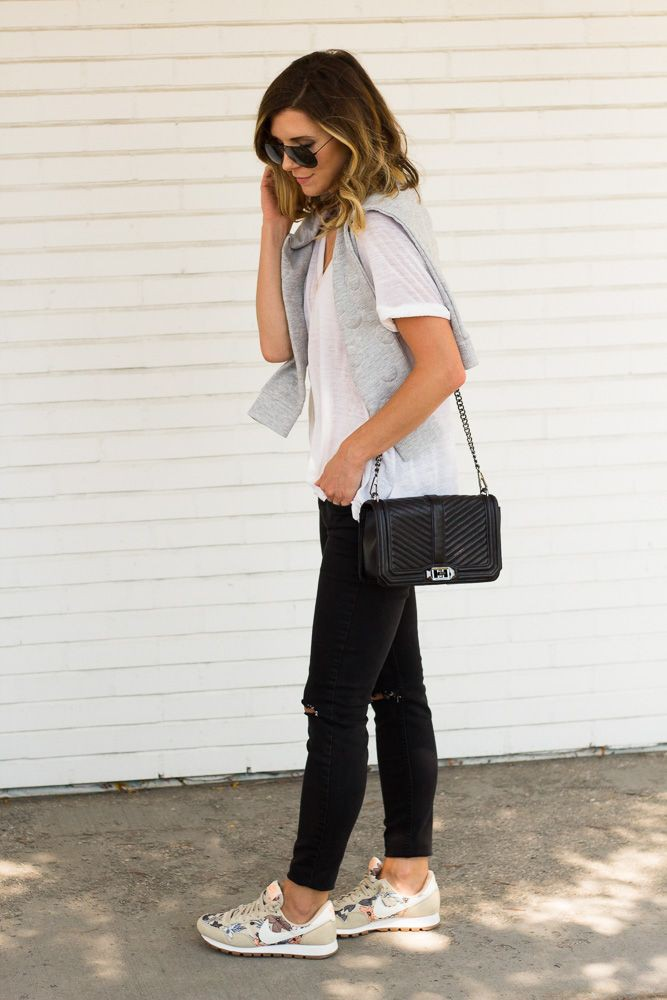 Casual dresses with Sneakers for school