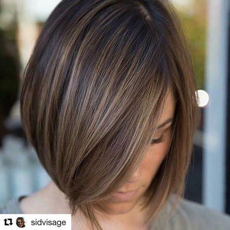 Short Hair Balayage Straight Bob Cut Hair Colors Ideas For Short Hair Bob Cut Brown Hair Hair Coloring
