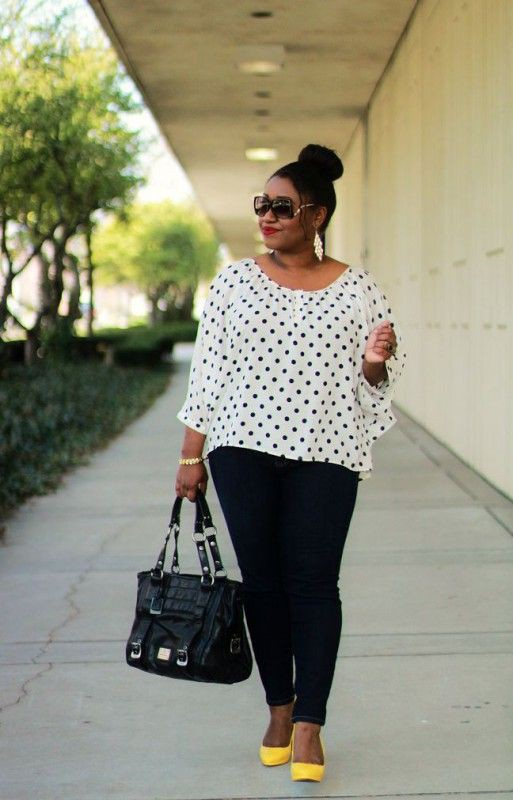 Casual plus size spring outfits