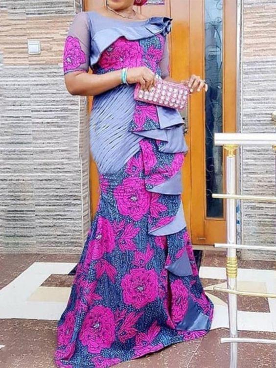 Aso Ebi Styles, Discounts and allowances, Maxi dress