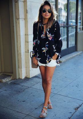 White short outfit ideas, Casual wear