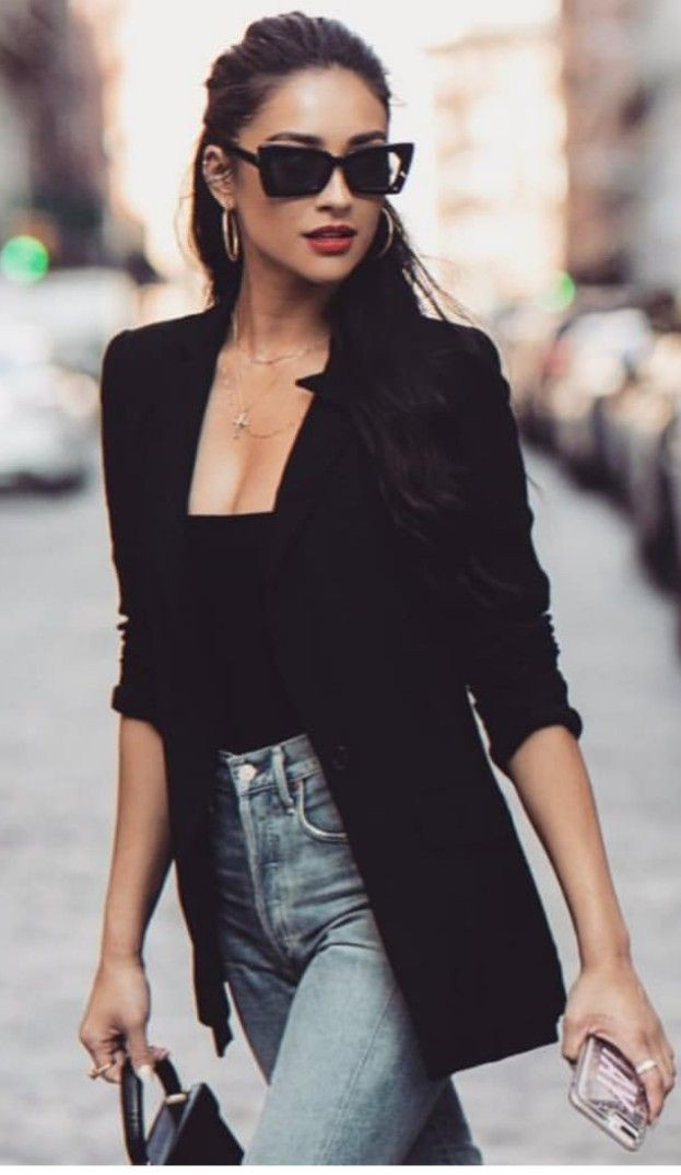 Must try these black sunglasses outfit, Casual wear
